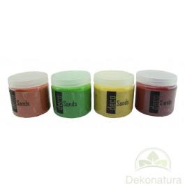 Arenas Decorativas Naranja, verde, Amarillo y Rojo